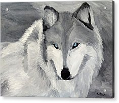 Acrylic Print featuring the painting Blue Eyes by Kevin Daly