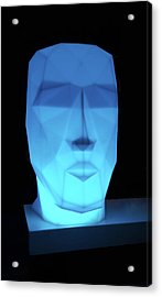 Blue Face Acrylic Print