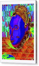 Blue Faced Mask Acrylic Print by Ronald Rosenberg