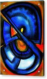 Blue Fans - Pastels Acrylic Print by J Kamaru