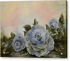 Acrylic Print featuring the painting Blue Fantasy by Joni McPherson