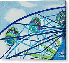 Blue Ferris Wheel Acrylic Print