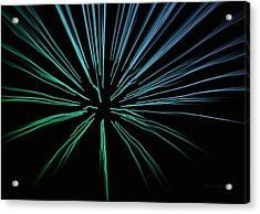 Acrylic Print featuring the photograph Blue Firework by Chris Berry