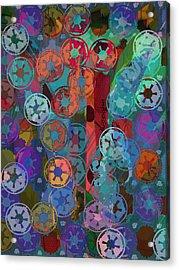 Blue Flakes Acrylic Print