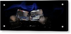 Acrylic Print featuring the photograph Blue Flames And Ice by Rico Besserdich