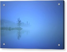 Acrylic Print featuring the photograph Blue Fog At Skaha Lake by Tara Turner