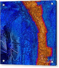 Blue Force Acrylic Print by Dee Flouton