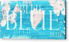 Blue Acrylic Print by Frank Tschakert