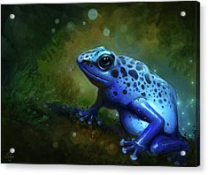 Blue Frog Acrylic Print