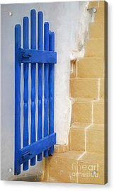 Blue Gate Acrylic Print by HD Connelly