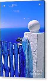 Blue Gate Acrylic Print by Silvia Ganora