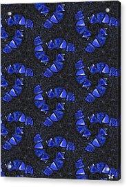 Blue Glass  Acrylic Print
