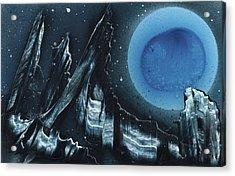 Blue Gloss Acrylic Print by Jason Girard