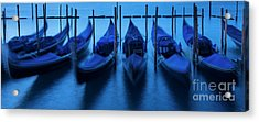 Acrylic Print featuring the photograph Blue Gondolas by Brian Jannsen
