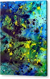 Blue Green Chaos Acrylic Print