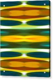 Blue Green Yellow Modern Art  Pattern 1 Acrylic Print by Amy Vangsgard