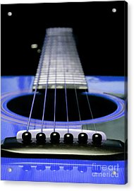 Blue Guitar 14 Acrylic Print by Andee Design