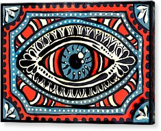 Acrylic Print featuring the painting Blue Gypsi Eye by Nada Meeks