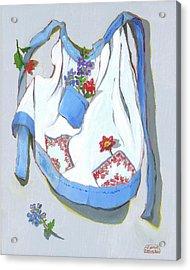 Blue Handkerchief Apron Acrylic Print