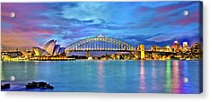 Blue Harbour Acrylic Print by Az Jackson