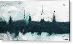 Acrylic Print featuring the painting Blue Harbour by Carmen Guedez