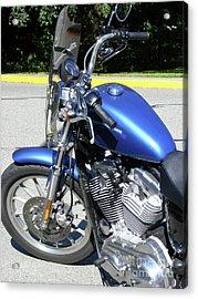 Blue Harley One Acrylic Print by Attila Jacob Ferenczi