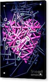 Blue Heart Turmoil  Acrylic Print by Jorgo Photography - Wall Art Gallery