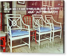 Blue Heaven Quote Acrylic Print by JAMART Photography