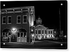 Blue Heritage In Black And White Acrylic Print