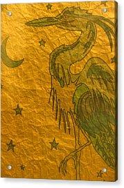 Blue Heron Acrylic Print by Austen Brauker