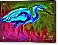 Acrylic Print featuring the photograph Blue Heron by Walt Foegelle