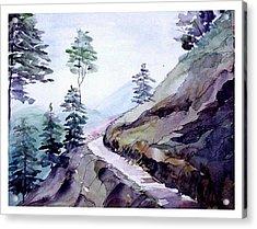 Blue Hills Acrylic Print by Anil Nene