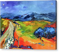 Blue Hills By Elise Palmigiani Acrylic Print by Elise Palmigiani