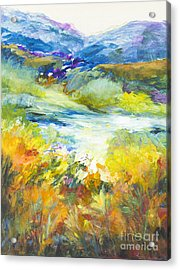Blue Hills Acrylic Print by Glory Wood