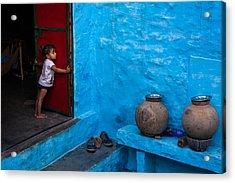 Blue Home Acrylic Print