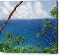 Blue Horizon Acrylic Print by Kenneth Grzesik