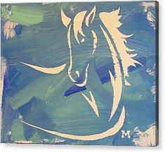 Blue Horse Sky Acrylic Print