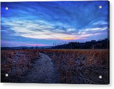 Acrylic Print featuring the photograph Blue Hour After Sunset At Retzer Nature Center by Jennifer Rondinelli Reilly - Fine Art Photography