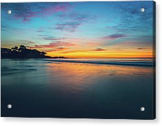 Blue Hour At Carmel, Ca Beach Acrylic Print