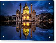 Blue Hour At Karlskirche Acrylic Print