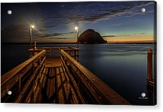 Blue Hour At Morro Bay Acrylic Print