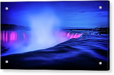 Blue Hour At Niagara Falls Acrylic Print