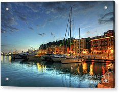 Acrylic Print featuring the photograph Blue Hour At Port Nice 2.0 by Yhun Suarez
