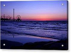 Blue Hour In Galveston Acrylic Print