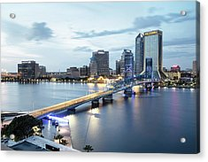 Blue Hour In Jacksonville Acrylic Print