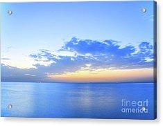 Blue Hour Of Dubai Jumeirah Beach Acrylic Print