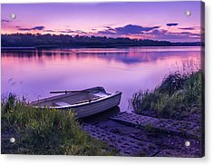 Blue Hour On The Vistula River Acrylic Print