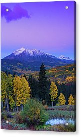 Blue Hour Over East Beckwith Acrylic Print