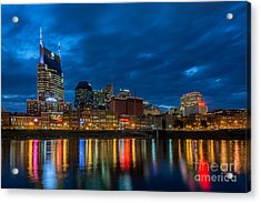 Blue Hour Reflections Acrylic Print