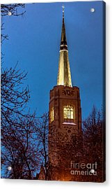 Blue Hour Steeple Acrylic Print